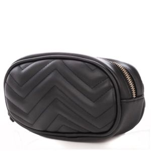 Handbags - NEW Quilted Black Faux Leather Waist Bag